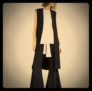 Zara Knit Waistcoat With Lace-up Side Grommets